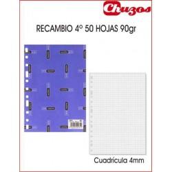 RECAMBIO CUADRICULA A5 50 HJS 90 GRS MULTITALADRO MULTIFIN