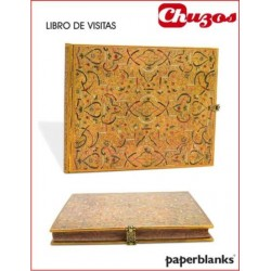 LIBRO DE FIRMAS PAPERBLANKS GOLD INLAY 230 x 180mm PB2531-3