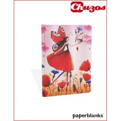 CUADERNO PAPERBLANKS POPPY FIELD MIDI 120X170MM PB3322-6