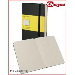 CUADERNO MOLESKINE CLASSIC CUADRICULA COSIDO 9 X 14 CM