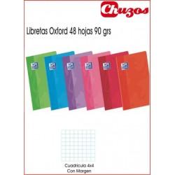 CUADERNO OXFORD GRAPADO A4 48 HJS CUADRICULA