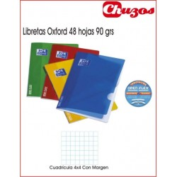 CUADERNO OXFORD CUADRICULA GRAPADO A4 48 HJS OPENFLEX CLASSIC