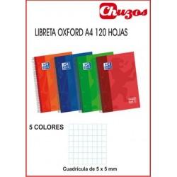 CUADERNO OXFORD CUADRICULA A4 ESPIRAL 120H EUROPEAN BOOK 5