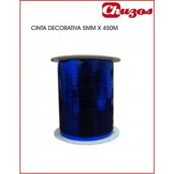 CINTA DECORATIVA 5MM X 450 M AZUL EUROCINSA