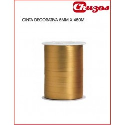 CINTA DECORATIVA 5MM X 450 M ORO EUROCINSA