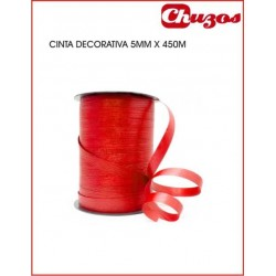 CINTA DECORATIVA 5MM X 450 M ROJO EUROCINSA