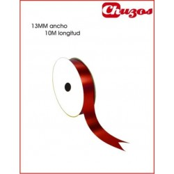 CINTA DECORATIVA 13 MM X 10 ML ROJO METALIZADO