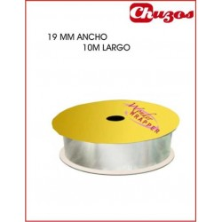 CINTA DECORATIVA 19MM X 10 ML PLATA 3240013 WONDER