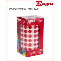 ROLLO GOMETS REDONDOS APLI 4853 10,5 MM ROJO