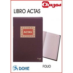 LIBRO ACTAS 100 HJS FOLIO NATURAL DOHE