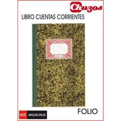 LIBRO CARTONE CUENTAS CORRIENTES FOLIO NATURAL MIQUELRIUS