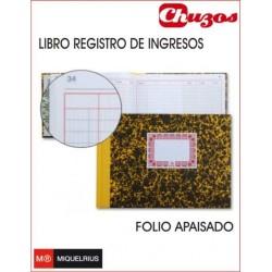 LIBRO REGISTRO DE INGRESOS MOD 92 CARTONE FOLIO APAISADO MIQUELRIUS
