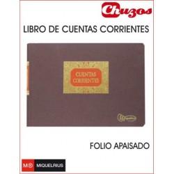 LIBRO CUENTAS CORRIENTES FOLIO APAISADO MIQUELRIUS