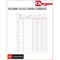 RECAMBIO 50 HJS CUENTAS CORRIENTES 4º 90GRS MIQUELRIUS