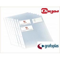FUNDAS PORTA TARJETAS A4 GRAFOPLAS 03721000 10 UDS