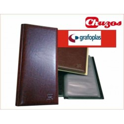 TARJETERO PVC MARRON 29x14 CM GRAFOPLAS EXECUTIVE