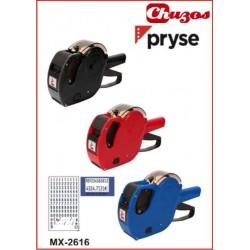 ETIQUETADORA DE PRECIOS 2 LINEAS 2616 10 DIGITOS PRYSE MX2616