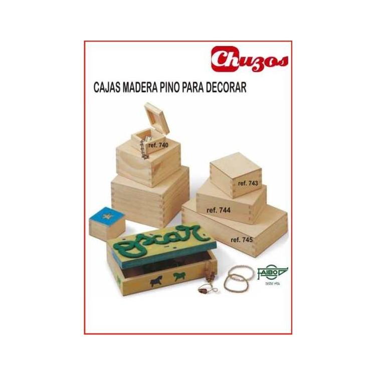 Caja madera para decorar faibo sin cierre economica - Cajitas de madera para decorar ...