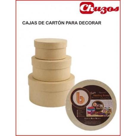 CAJAS CARTON PARA DECORAR REDONDAS PMA1742202 DOCRAFTS