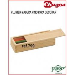 PLUMIER MADERA PARA DECORAR FAIBO 799