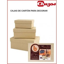 CAJAS CARTON PARA DECORAR RECTANGULAR PMA1742201 DOCRAFTS