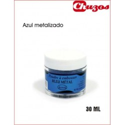 POLVOS RELIEVE EMBOSSING AZUL METAL 30 ML ALADINE
