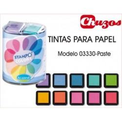 TINTAS SELLOS PAPEL MODELO PASTEL 10 UDS ALADINE