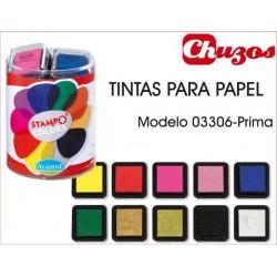 TINTAS SELLOS PAPEL MODELO PRIMA 10 UDS ALADINE