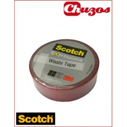 WASHI TAPE BURDEOS 3M SCOTCH 15 MM X 10M