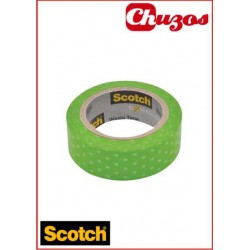 WASHI TAPE VERDE CON LUNARES 3M SCOTCH 15 MM X 10M