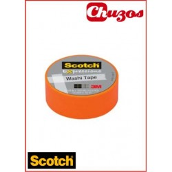 WASHI TAPE NARANJA 3M SCOTCH 15 MM X10 M