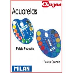 ACUARELAS ESCOLARES PALETA 12 COLORES MILAN