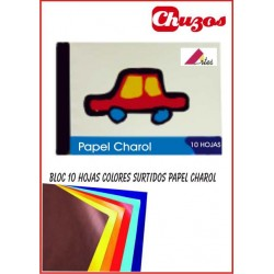 BLOC PAPEL CHAROL PARA MANUALIDADES 10 HJS ARTES