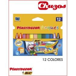 CERAS PLASTIDECOR PEQUES TRIANGULAR 12 UDS BIC