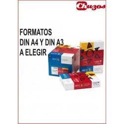 PAPEL ESPECIAL TINTA 4CC 100 GRS 500 HJS BLANCO Formato A4 o A3