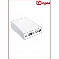 PAPEL A5 80 GRS 500 HJS BLANCO