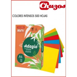 PAPEL COLORES A4 500 HJS 80 GRS ADAGIO - COLORES INTENSOS