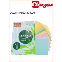 PAPEL COLORES A4 500 HJS 80 GRS ADAGIO - COLORES PASTEL