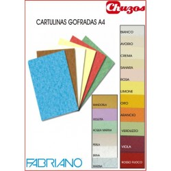 CARTULINA A4 GOFRADA 160 GRS 50 UDS FABRIANO