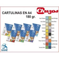 CARTULINA A4 180 GRS 50 UDS DOHE Precios Según color