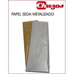 PAPEL SEDA METALIZADO 51 X 76 CMS PACK 10 UDS