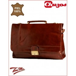 CARTERA PIEL ASA MARRON TM2114 TONI MIR
