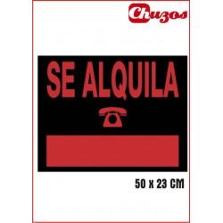 CARTEL SE ALQUILA 50 x 23 CM