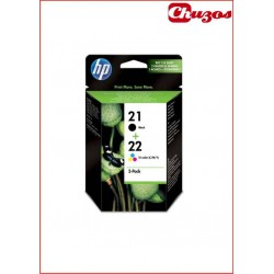 CARTUCHO TINTA HP 21 Y HP 22 PACK NEGRO Y TRICOLOR ORIGINAL SD367AE