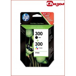 CARTUCHO TINTA HP 300 PACK COLOR Y NEGRO ORIGINAL CN637EE