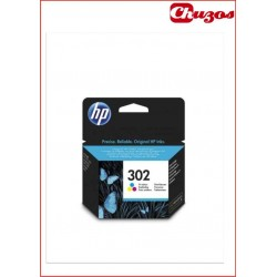 CARTUCHO TINTA HP 302 TRICOLOR ORIGINAL F6U65AE