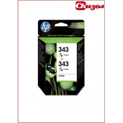 CARTUCHO TINTA HP 343 TRICOLOR ORIGINAL CB332EE PACK 2 UDS