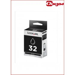CARTUCHO TINTA LEXMARK 32 NEGRO 18CX032E ORIGINAL PLUS