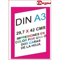IMPRESION COLOR TINTA A3