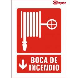 SEÑAL BOCA DE INCENDIO PVC 21 X 29,7 CM